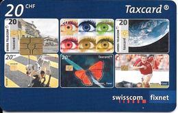 CARTE-PUCE-SUISSE-20CHF-Gem6-Se184-09/08-25 ANS De LaTAXCARD-TBE - Suisse