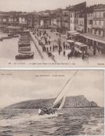 Lot De 2 CPA La Ciotat - L'île Verte / Le Quai L. Benet à La Sortie Des Ouvriers (jolie Animation Avec Autobus) - La Ciotat