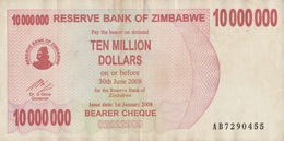 Zimbabwe / 10 000 000 Dollars / 2008 / P-55(b) / VF - Zimbabwe