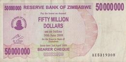 Zimbabwe / 50 000 000 Dollars / 2008 / P-57(a) / VF - Zimbabwe