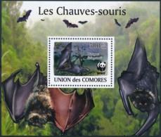 D - [39167]Comores 2009 - BL196, Faune, Les Chauves-souris. - Chauve-souris