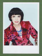 MIREILLE MATHIEU In Person Signed Glossy Photo 13/18 Cm 5 X 7 Inch AUTOGRAPHE - Autógrafos
