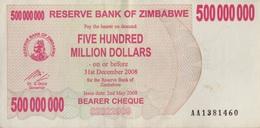 Zimbabwe / 500 000 000 Dollars / 2008 / P-60(a) / XF - Zimbabwe