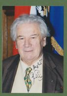 PETER USTINOV  AUTOGRAPHE / AUTOGRAMM  In Person Signed Glossy Photo 9 X 14 Cm - Handtekening