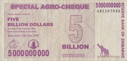 Zimbabwe / 5 000 000 000 Dollars / 2008 / P-61(a) / VF - Zimbabwe
