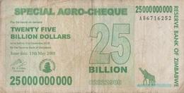 Zimbabwe / 25 000 000 000 Dollars / 2008 / P-62(a) / VF - Zimbabwe
