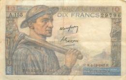 BILLET DIX FRANCS MINEUR 12/1947 TRES BON ETAT - 1871-1952 Anciens Francs Circulés Au XXème