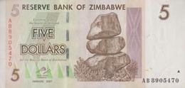 Zimbabwe / 5 Dollars / 2007 / P-66(a) / XF - Zimbabwe