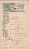 Menu Art Nouveau Début 1900 / Café Riche16 Bd Des Italiens / 75 Paris - Menus
