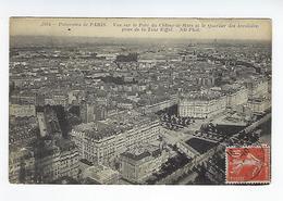 CPA Panorama De Paris Vue Sur Le Parc Du Champ De Mars Et Le Quartier Des Invalides Prise De La Tour Eiffel - Arrondissement: 07
