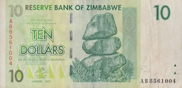 Zimbabwe / 10 Dollars / 2007 / P-67(a) / VF - Zimbabwe