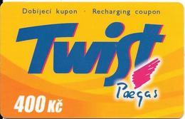 CARTE-PREPAYEE-GSM-TCHEQUIE TWIST 400Kc-Plastic Epais-TBE - Tchéquie