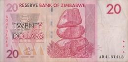 Zimbabwe / 20 Dollars / 2007 / P-68(a) / VF - Zimbabwe