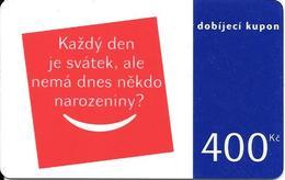 CARTE-PREPAYEE-GSM-TCHEQUIE-DOBIJECI- 400Kc-Plastic Epais-TBE - Tchéquie