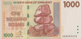 Zimbabwe / 1 000 Dollars / 2007 / P-71(a) / UNC - Zimbabwe