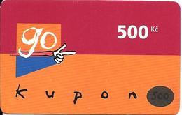 CARTE-PREPAYEE-GSM-TCHEQUIE-GO KUPON 500Kc-Plastic Fin-TBE - Tchéquie