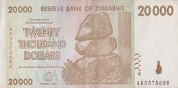 Zimbabwe / 20 000 Dollars / 2008 / P-73(a) / XF - Zimbabwe