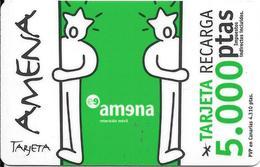 CARTE-PREPAYEE-ESPAGNE-AMENA-5000Pts-Plastic Epais-TBE - Espagne