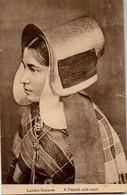 Larière Flamande A Flemish Milk-maid Photypie Bruxelles  Verstuurd Naar Amsterdam Holland (zegel Verwijderd) - Belgique