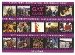CPM Cinéma Carte Publicitaire Best Gay Et Lesbien Film Video Marathon - Cinema