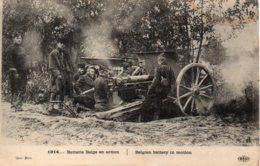 Cpa 1914 Batterie Belge En Action - War 1914-18