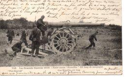 Cpa  La Guerre 1914-15 Canon Rimailho 155 Long De Campagne - War 1914-18