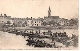 Cpa  La Guerre 1914-18  Lancement D'un Pont De Bateau Sur La Loire. - War 1914-18