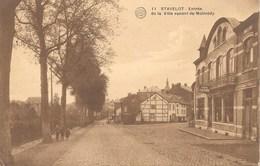 Stavelot NA3: Entrée De La Ville Venant De Malmédy 1923 - Stavelot
