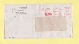 Greve De 1974 - Lettre Transportee Par La Chambre De Commerce De Meaux - EMA Machine T - 13-11-1974 - Marcophilie (Lettres)