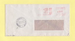 Greve De 1974 - Lettre Transportee Par La Chambre De Commerce DeTroyes - EMA Machine MG - 26-10-1974 - Gedeon Harcourt - Postmark Collection (Covers)