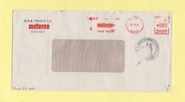Greve De 1974 - Lettre Transportee Par La Chambre De Commerce De L'Aisne - EMA Machine NA2 - 15-11-1974 - Boue - Postmark Collection (Covers)