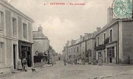 Artannes  37   La Rue Principale Tres Tres Animée -Tailleur Et En Face Epicerie - France