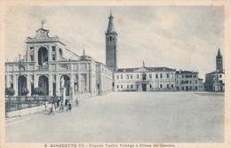 S.BENEDETTO PO - PIAZZALE TEOFILO FOLENGO E CHIESA DEL CANOBIO - Mantova