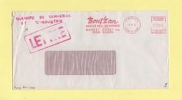 Greve De 1974 - Lettre Transportee Par La Chambre De Commerce - EMA Machine NA1 - 4-11-1974 - Macon - Postmark Collection (Covers)