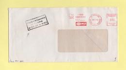 Greve De 1974 - Lettre Transportee Par La Chambre De Commerce De Meaux - EMA Machine T - 13-11-1974 - Postmark Collection (Covers)