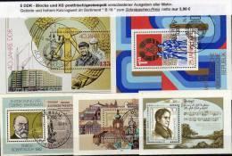 Schnäppchen 25 DDR Blocks/Kleinbogen **/SST/o 100€ Unterschiedlicher Motive Bloque Blocs M/s Sheets Bf GDR Germany - Timbres