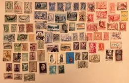 LOT DE 86 TIMBRES ANCIENS OBLITERES GRECE TOUS DIFFERENTS - Lotes & Colecciones