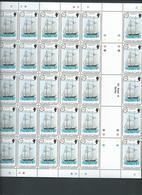 Tristan Da Cunha 1983 Sailing Ships II Set 4 In Fresh Full Sheets Of 50 MNH - Tristan Da Cunha