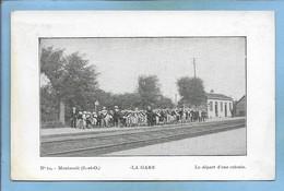 Montsoult (95) La Gare Le Départ D'une Colonie 2 Scans - Montsoult