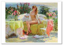 SEXY LADY Woman Semi Nude Erotica FINE ART By Razumov Rusian New Postcard - Nudi Artistici (1960-…)