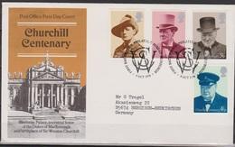 Grossbritannien 1974 MiNr.659 - 662 FDC 100.Geb. Winston Churchill ( D 6728 )günstige Versandkosten - FDC