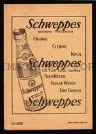1951 VINTAGE ORIGINAL PERIOD SCHWEPPES Advertising ADV! THEATRE PROGRAM (W4_3303) - Advertising
