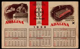 1938 BAYER Advertising Blotter Pharmaceutical Product With Calendar WWII PERIOD MADE IN URUGUAY (WQ-001) - Publicidad