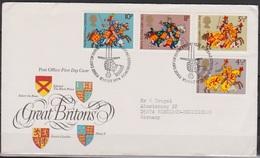 Grossbritannien 1974 MiNr.654 - 657 FDC Königliche Ritter Des Mittelalters ( D 6430 )günstige Versandkosten - FDC