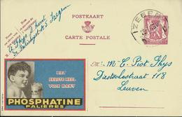 Publibel Obl. N° 623 A ( PHOSPHATINE  Falières, Bébé) Obl.: Izegem   D D   29/07/46 - Entiers Postaux