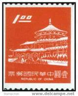 Taiwan 1975 Chungshan Building Coil Stamp Architecture - Unused Stamps
