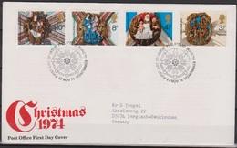 Grossbritannien 1974 MiNr.663 - 666 FDC Weihnachten ( D 6455 )günstige Versandkosten - FDC