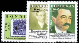 Honduras 2000 75th Anniversary Of Airmail Stamps Unmounted Mint. - Honduras