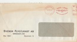 LSC 1965 - EMA - 30 ARI FLYGEST TJANST / Cachet STOCKHOLM / Entête  SVENSK FLYGTJANST AB - SWEDAIR LTD - Briefe U. Dokumente