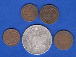 Autriche  Florin  1860  +  4  Pieces - Austria